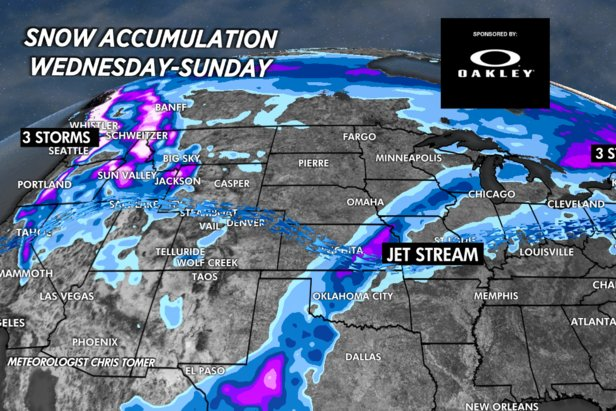 Multiple snow storms grace the PNW for the first weekend of the year.