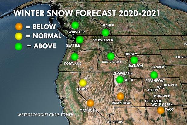 Winter snow forecast for 20/21  - © Chris Tomer