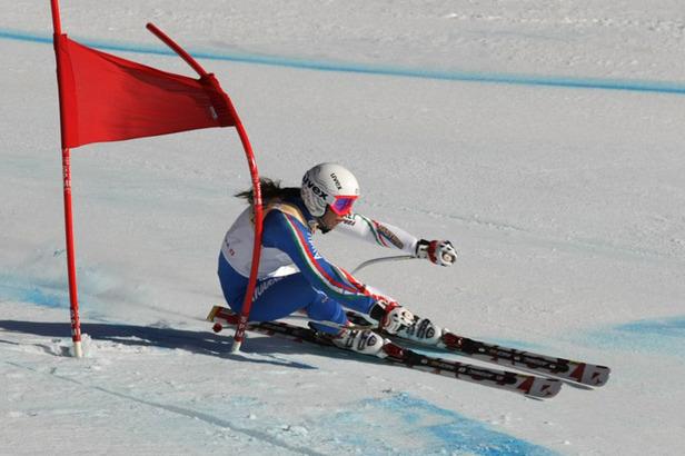 JWM: Elena Curtoni holt zum Abschied Super-G Gold für Italien- ©Deprez Photos