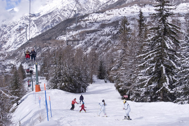Skiing in Cogne Valley, Val d'Aosta