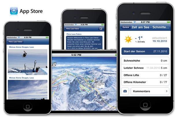 Skiinfo iPhone-App mit neuen Funktionen- ©Skiinfo
