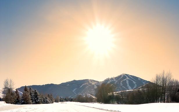 Sun Valley enjoys sunshine in the winter.  Photo courtesy of Visit Sun Valley.