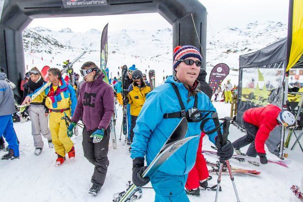 First skiers at Val Thorens' Ski Force Winter Tour in 2013