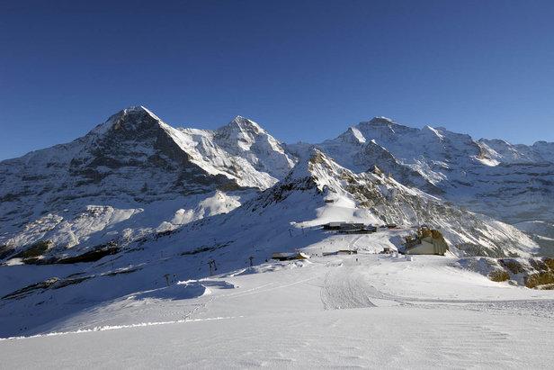 Hoge toppen in Zwitserland: de Eiger, de Mönch en de Jungfrau