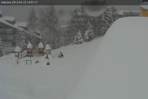 Artesina - Mondolè ski, Piemonte - Neve 23 Gennaio 2013