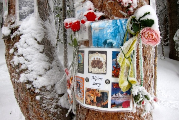 The Jerry Garcia Shrine located on Aspen Mountain.