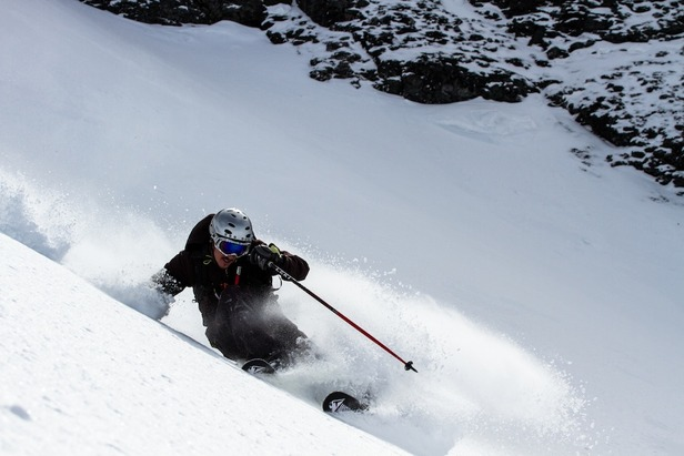 Herb Manning finds some great Colorado spring powder. - ©Liam Doran