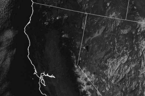 Clear and sunny skies cover California.
