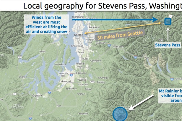 Learn how to predict snowfall totals at Stevens Pass. - ©OpenSnow.com