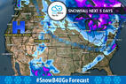 12.7 Snow Before You Go: Storm Track Favors Northeast - © Meteorologist Chris Tomer