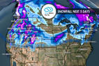 Feast on 1-3 Feet of Thanksgiving Powder: 11.22 Snow B4U Go - © Meteorologist Chris Tomer