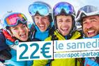 Je skie le samedi pour 22 €