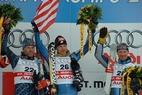 Die Aufstellung des alpinen US-Skiteams 2004 - ©Lang/Milka