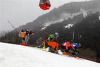 Schwierige Bedigungen bei der Swiss Skicross Series in Lenzerheide - ©Patrick Gautschy