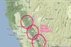 How the Mountains of California Make Snow - © Google Maps/OpenSnow.com
