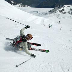 Ski sur le glacier de la Grande Motte à Tignes - ©Jean-Marc Favre
