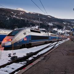 TGV vers les stations de ski