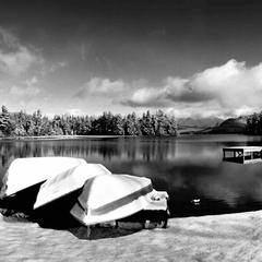 Whiteface Lodge Canoe Club in winter - © Whiteface Lodge