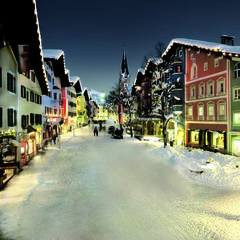 Colourful and cute: Kitzbuehel town centre, Austria - © Markus Mitterer