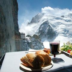 Mont Blanc from the Summit Cafe in Chamonix. - © Chamonix Tourism