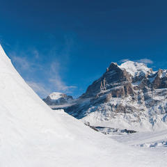 White Elements Pro Park in front of the Eiger's legendary north face, Grindelwald - © Grindelwald
