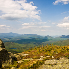 From Mt. Wright, looking out over Adirondack Park at several sub-46ers in the distance with equally pristine views. Photo by Steve Duncan
