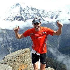 Marc Pschebizin (Wittlich, GER) gewinnt den 9. Inferno Triathlon von Thun auf das Schilthorn am Samstag, 19. August 2006 bereits zum sechsten Mal, diesmal mit einer Zeit von 8:44.22,1 - ©swiss-image.ch/Remy Steinegger