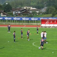 La serie A del calcio si ritira in Trentino