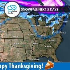 11.23 Snow Before You Go: Rain Over to Snow - ©Meteorologist Chris Tomer
