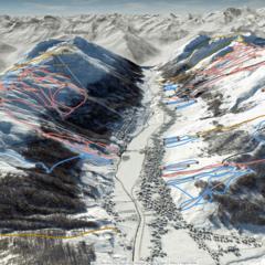 Nová interaktívna mapa zjazdoviek v Livignu (FATMAP) - © OnTheSnow/FatMap