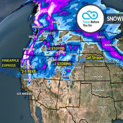 3.22 Snow Before You Go: Pineapple Express & Heavy Snow West - ©Meteorologist Chris Tomer