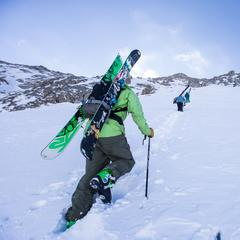 A-Basin East Wall hike up - © Dave Camara