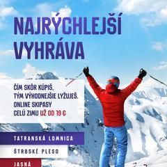Tatry: Čím dřív koupíš, tím levněji lyžuješ! - ©TMR, a.s.