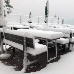 Prvý sneh v Schladming-Dachstein. Na foto Hochwurzen (26.08.18) - © Facebook Schladming-Dachstein