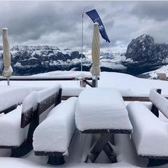 Prvý sneh vo Val Gardena - © Facebook FIS Alpine Ski World Cup Val Gardena