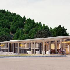 Salamandra Resort: Výstavba novej multifunkčnej budovy pri dojazde zjazdovky - ©Salamandra Resort