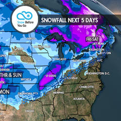 Heavy Snow to Totally Dry: 11.8 Snow B4U Go - ©Meteorologist Chris Tomer