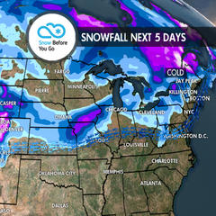 Feast on 1-3 Feet of Thanksgiving Powder: 11.22 Snow B4U Go - ©Meteorologist Chris Tomer