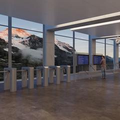 V-Bahn 3S-Eigergletscher Panoramahalle - © https://www.jungfrau.ch