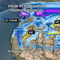 3.6 Snow Before You Go: One Storm System for the West - ©Meteorologist Chris Tomer