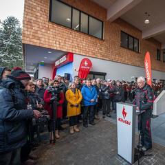 Dr. Josef Burger während der Eröffnung am 14.12.2019 - © Bergbahn AG Kitzbühel   Michael Werlberg