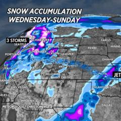 Multiple Snow Storms Kick off 2021 - ©Meteorologist Chris Tomer