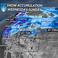 What Resorts are Getting the Most Christmas Snow?  - ©Meteorologist Chris Tomer