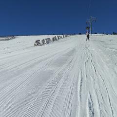 Z dnešního lyžování na Pradědu (foto od lyžaře Zdeňka Šuby) - © facebook | Zdeněk Šuba