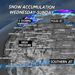 Weekly Weather Ski Forecast: Snow Before You Go - ©Meteorologist Chris Tomer