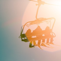 Riding the lift on a perfect fall day.  - © Liam Doran