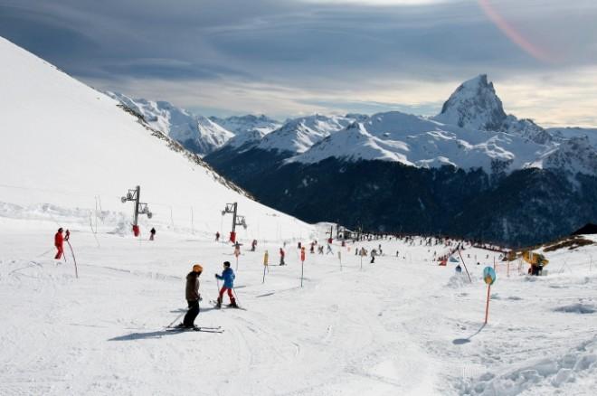 Sur les pistes de ski d'Artousteundefined