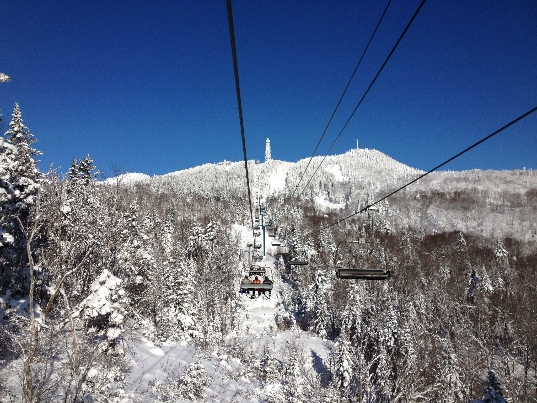 Bluebird day at Mont Tremblant. Photo Courtesy of Mont Tremblant.